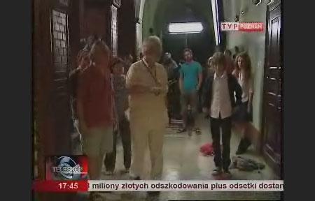 Relacja z planu w TVP Poznań