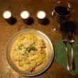 Toskanskie spaghetti z parowkami w sosie musztardowym